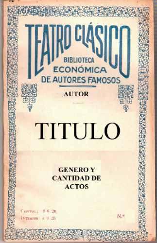libro teatro clasico la segunda esposa - arturo wing pinero
