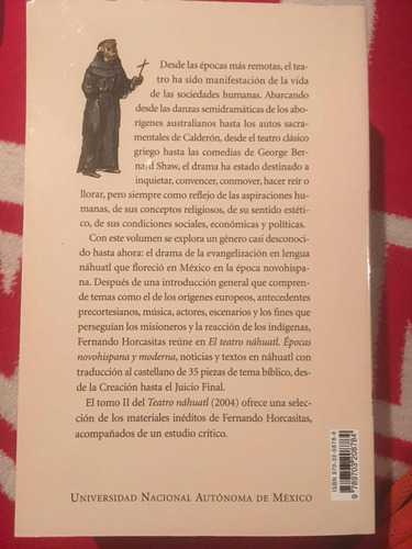 libro teatro náhuatl, época novohispana y moderna horcasitas