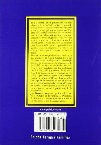 libro tecnicas y programas en terapia familiar / techniques