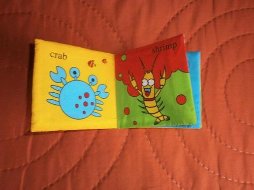 libro tela bebe didactico.lavable.niño.colorido.nuevos.