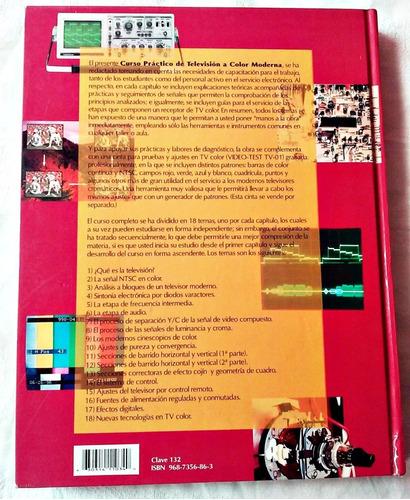 libro:  televisión a color moderna, curso practico  empastad