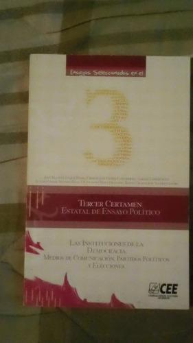 libro tercer certamen estatal de ensayo político.