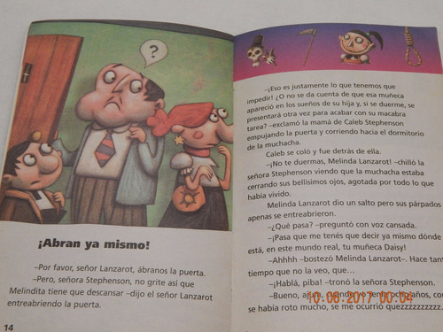 libro terror en montesterville la muñeca maldita  (genios)