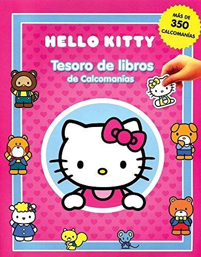 libro tesoro de libros de calcomanias: hello kitty - nuevo