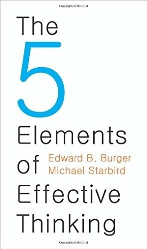 libro the 5 elements of effective thinking - nuevo