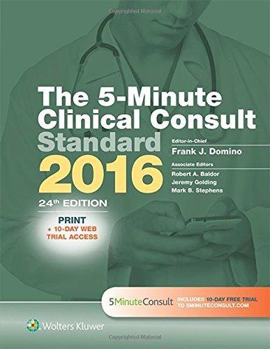 libro the 5-minute clinical consult standard 2016 - nuevo