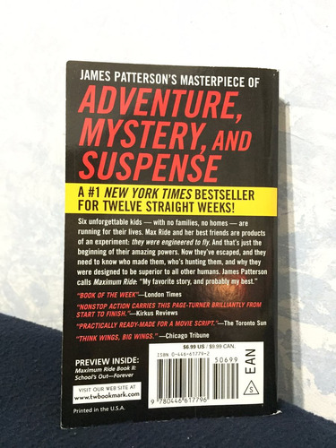 libro the angel experiment ( james patterson ) ( ingles)