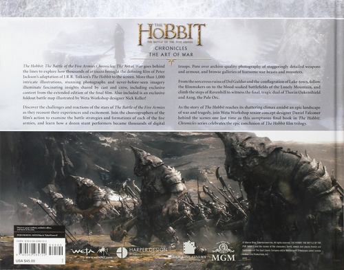 libro: the hobbit - the art of war: the battle of the five