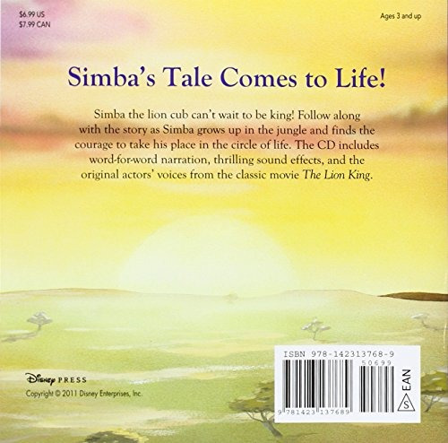 libro the lion king: read-along storybook and cd - nuevo