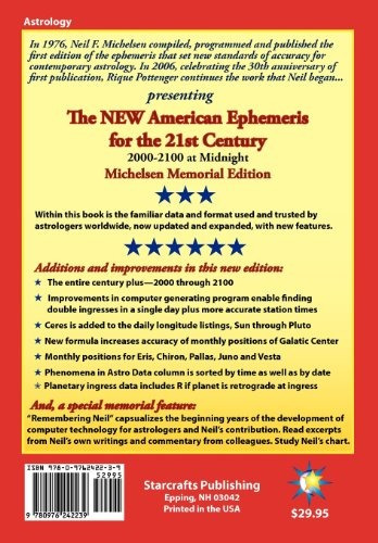 libro the new american ephemeris for the 21st century at mid