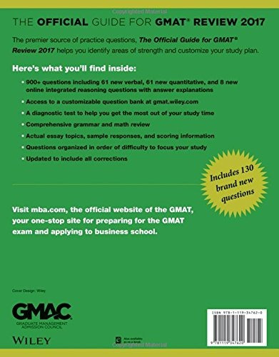 libro the official guide for gmat review 2017 - nuevo
