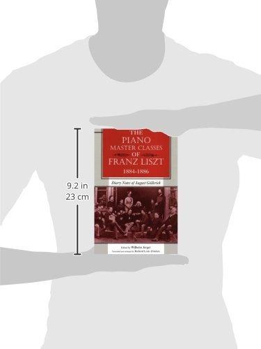 libro the piano master classes of franz liszt, 1884--1886: d