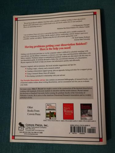 libro the portable dissertation advisor (en inglés)