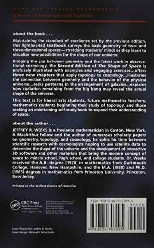 libro the shape of space - nuevo
