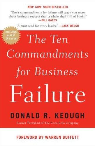 libro the ten commandments for business failure - nuevo