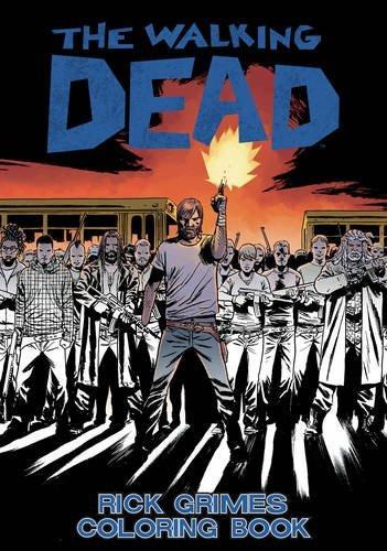 libro the walking dead: rick grimes adult coloring book