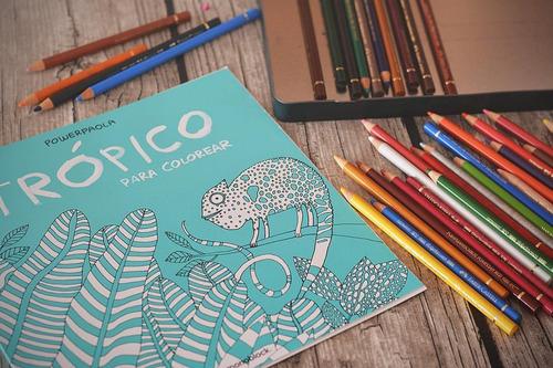 libro trópico para colorear power paola edicion especial