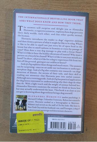 libro usado inside of a dog de alexandra horowitz perros