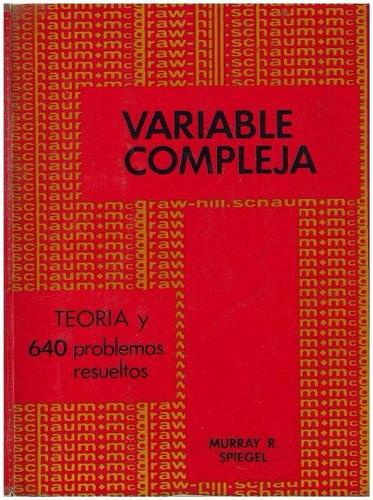 libro, variable compleja de murray r. spiegel serie schaum