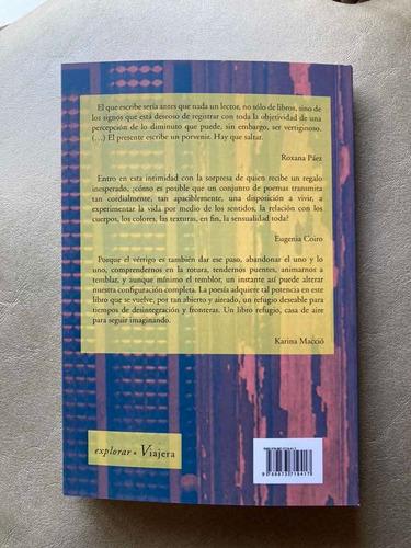 libro vértigo diminuto poesía de axel levin