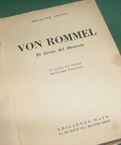libro von rommel zorro del desierto desmond young sin tapa