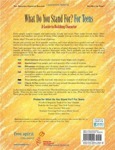 libro what do you stand for? for teens: a guide to buildin