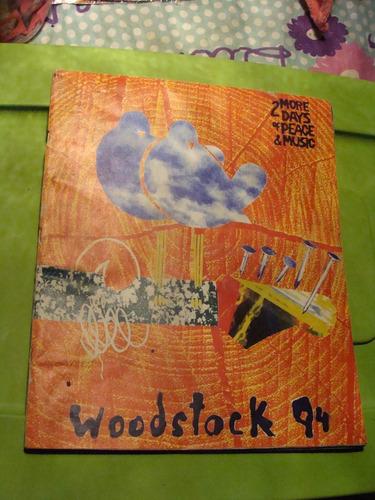 libro woodstock 94  , 58 paginas , año 1994