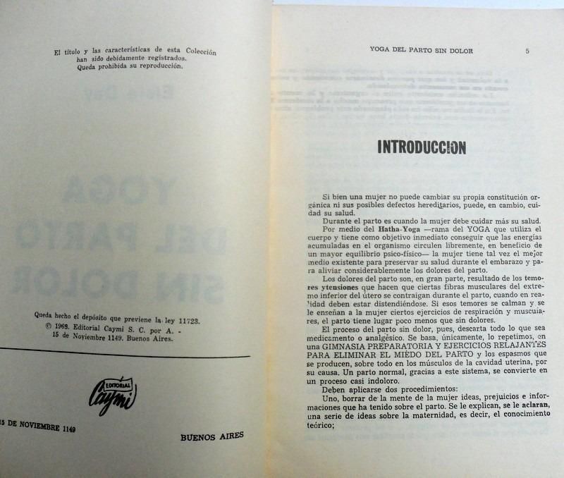 Libro Yoga Del Parto Sin Dolor. Elsie Day. Caymi 1969. - $ 100,00 en ...
