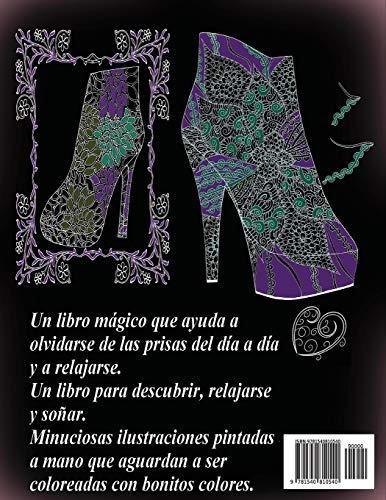 Libro Zapatos De Tacón Noche 2 Libro Para Colorear Para