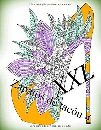 Libro Zapatos De Tacón Xxl 4 Libro Para Colorear Para