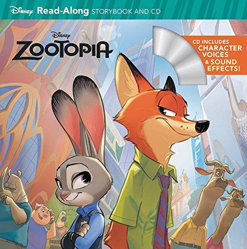 libro zootopia read-along - nuevo