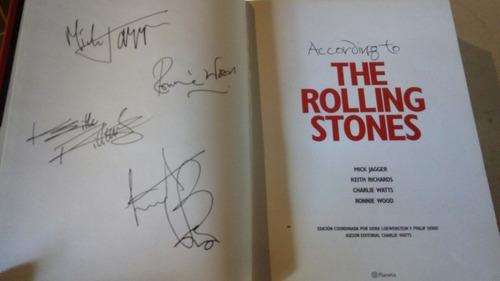 libro:according to the rolling stones. editorial planeta