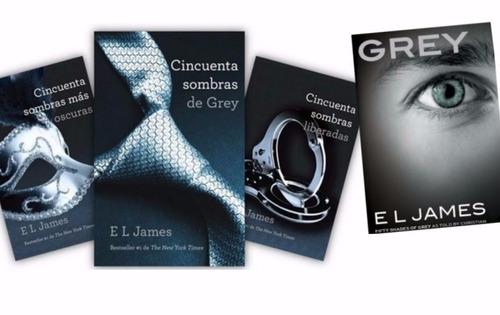 libros 50 sombras de grey colección completa + regalo