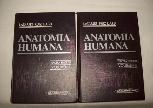 libros anatomía humana latarjet - ruiz liard 2 tomos 20 trmp