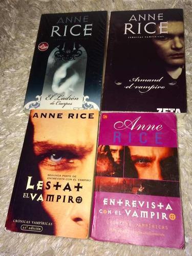 libros anne rice crónicas vampiricas