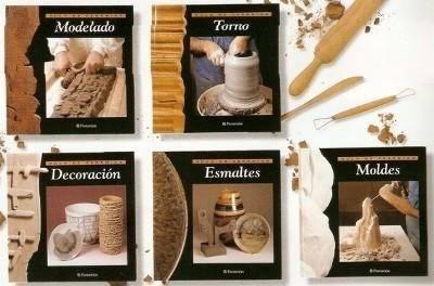 libros colección aula de cerámica 5 tomos parramon