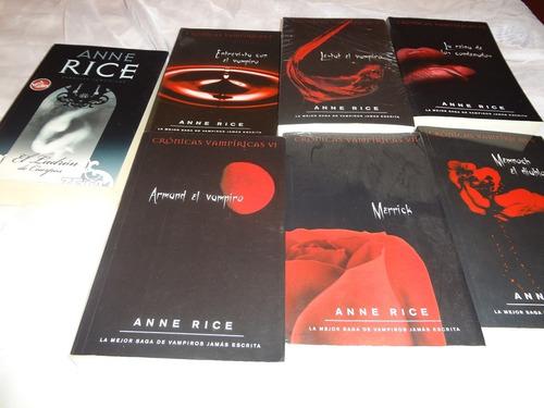 libros, colección/saga crónicas vampiricas 1-7 de anne rice