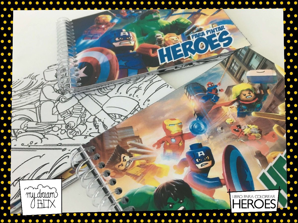 Libros Colorear Souvenir Cumple Avengers Heroes Lego Batman - $ 435 ...