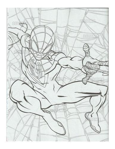 libros colorear spiderman #1 16 pg recuerdos fiesta infantil