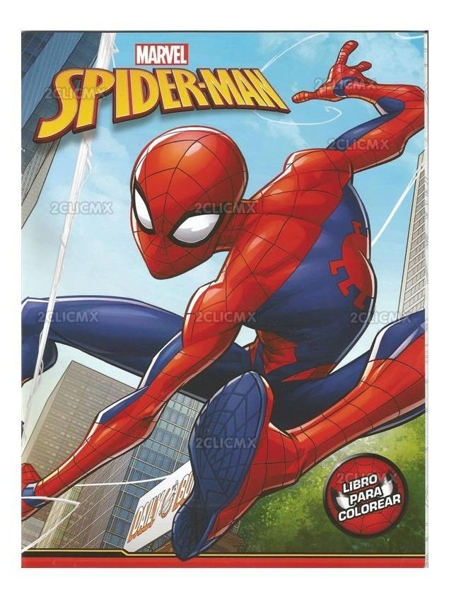 Libros Colorear Spiderman 1 16 Pg Recuerdos Fiesta Infantil
