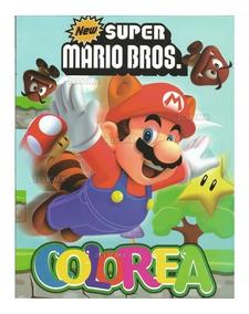 Libros Colorear Super Mario Bros 2 16 Pg Fiesta Infantil