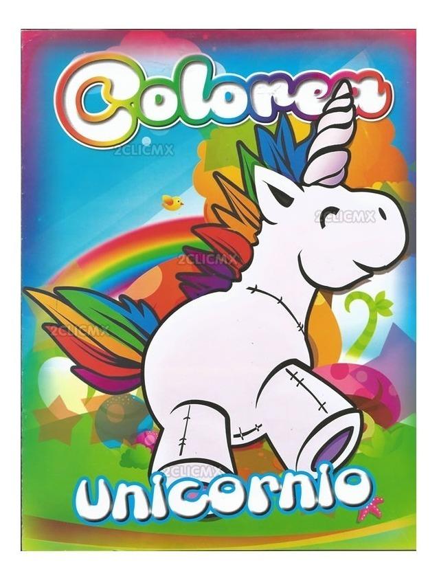 Libros Colorear Unicornio 1 16 Pag Recuerdos Bolo Fiesta