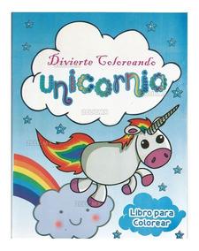 Libros Colorear Unicornio Azul 1 16 Pg Fiesta Infantil