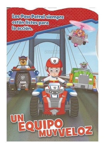libros cuentos infantiles niños paw patrol equipo veloz 8 pg