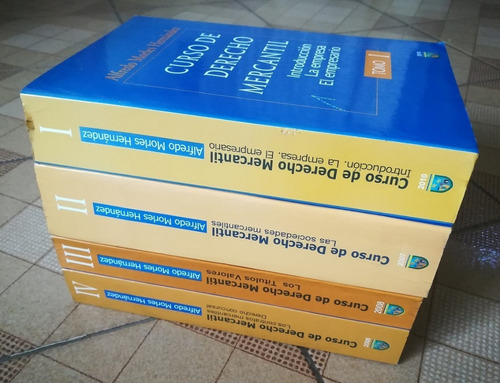 libros: curso de derecho mercantil (tomos 1, 2, 3 y 4)