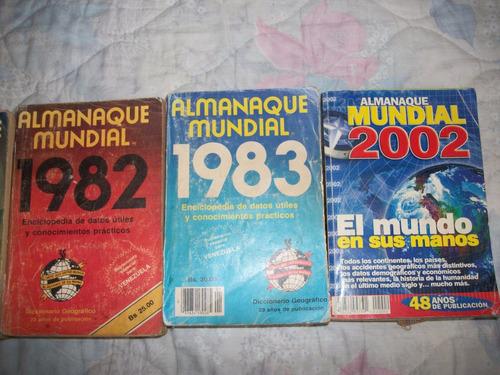 libros de almanaque mundiales de 1983 y 2002