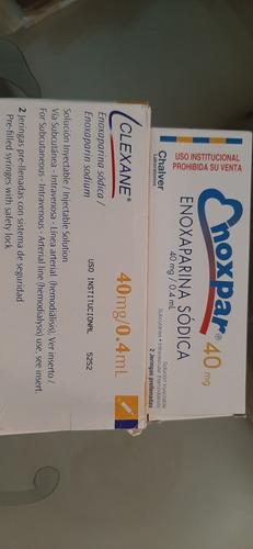 libros de ampolla  clexane 40 mg (4 verdes)