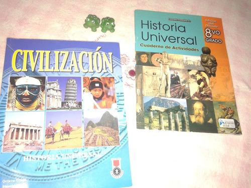 libros de bachillerato santillana y otros. 8vo a 5to