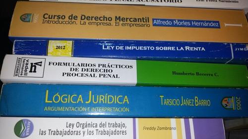 libros de derecho, coleccion juridica, varios titulos.