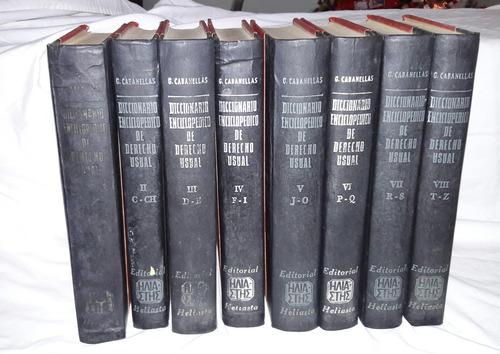 libros de derecho. diccionario enciclopedico g. caballenas